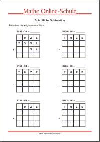 mathematik arbeitsbl tter f r die 4 klasse kleine schule. Black Bedroom Furniture Sets. Home Design Ideas