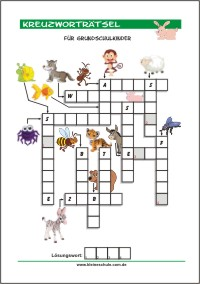 Kreuzworträtsel Kleine Schule