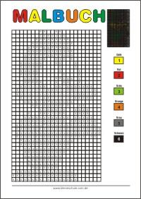 Zahlen ausdrucken nach ausmalen zum Malen Nach