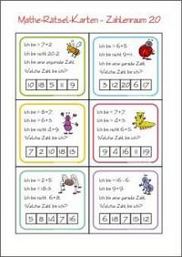 Matherätsel - Kleine Schule