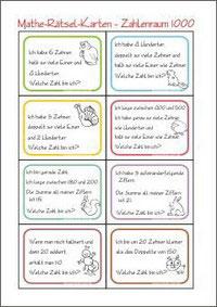 Mathematik Arbeitsblätter für die 3. Klasse - Kleine Schule